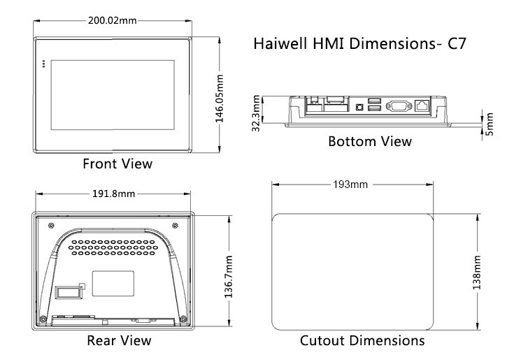 Haiwell HMI C7