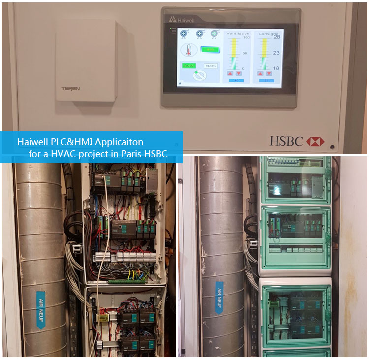 Haiwell PLC&HMI in HVAC control system of HSBS in Paris